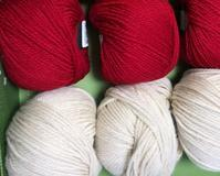 手編み用毛糸で織る  2 - スコットランドチェック