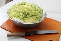 キャベツを食べる「豚の生姜焼き」 - 登志子のキッチン