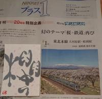 幻のテーマ「桜×鉄道」ふたたび - ムッチャンの絵手紙日記