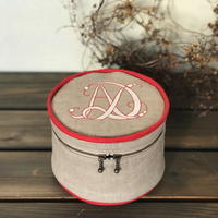 ミシン刺繍のバニティポーチのキットの予約販売 - dekobo