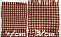 手編み用毛糸で織る 3 - スコットランドチェック