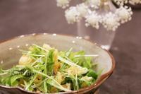水菜とお揚げの和え物 - おいしい便り