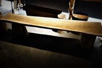 輪切り丸太+一枚板=ベンチ - SOLiD「無垢材セレクトカタログ」/ 材木店・製材所 新発田屋(シバタヤ)