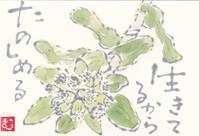 ふきのとう「生きてるから たのしめる」 - ムッチャンの絵手紙日記
