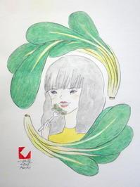 「こ」小松菜を食べる小松菜奈 - しりしり尻取