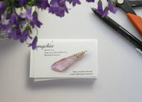 新しいショップカード/ New Shop Card ! - 花と天然石ハンドメイドジュエリー