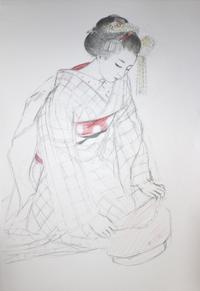 祇園舞妓さんモデル佳つ梅ちゃん大きさB2 - 黒川雅子のデッサン  BLOG版