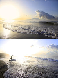 2020/04/02(THU) 今朝は久しぶりに波があります。 - SURF RESEARCH