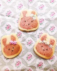 うさぎちゃんアイスボックスクッキー - 東京都調布市菊野台の手作りお菓子工房 アトリエタルトタタン