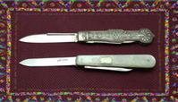 シードピックのあるSFFナイフ(アンティーク) - 銀器とナイフに魅せられて