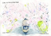 伏見大倉記念館裏の十石舟と桜 - 風と雲