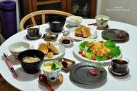 昨夜の晩ご飯は筍入り春巻きとピカタ、茶碗蒸しも。 - Awesome!