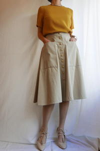 Hermes cotton Skirt, CHANEL shoes - carboots