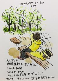 腹筋運動きつい - 一天一画   Yuki Goto