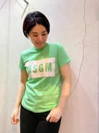 20SS「MSGM エムエスジーエム」新作ロゴTシャツ入荷です。 - UNIQUE SECOND BLOG