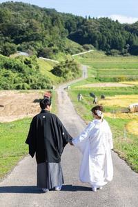 前撮りフォト!㏌ 秋の田んぼ - アーマ・テラス   ウエディングブログ