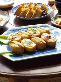 ちゃぶ台でごはん♪ いなり寿司 & 今年の桜 - キッチンで猫と・・・