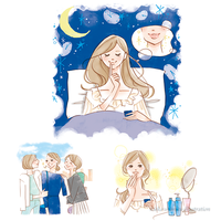 @cosme×キュレル リップバーム/タイアップイラスト - 女性誌を中心に活動するイラストレーター ★★清水利江子の仕事ブログ