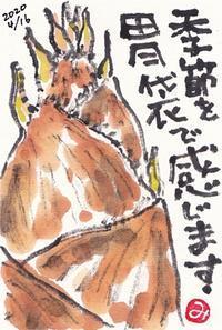 タケノコ - きゅうママの絵手紙の小部屋