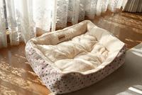 新しいふわふわ猫ベッド - きょうだい猫と仲良し暮らし