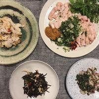 里芋サラダとわけぎソースの鶏ハム - 鴨志田農園のおいしい毎日