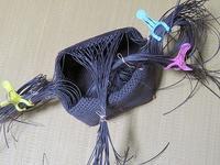 2本どり石畳編み、持ち手付け混雑中 - あれこれ手仕事日記 new!