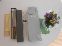 のび丸の誕生日に金田鋸店のパン切りナイフ。 - のび丸亭の「奥様ごはんですよ」日本ワインと日々の料理