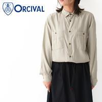 ORCIVAL [オーチバル・オーシバル] W's RAYON POPLIN L/S SHRTS [RC-3757 RBR] レーヨン ポプリン長袖シャツ・ LADY'S - refalt blog