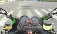 Y田サン号 GPZ900Rニンジャ 車検取得&旋回性向上計画が完了で仮納車♪ (Part5) - フロントロウのGPZ900Rニンジャ旋回性向上計画!