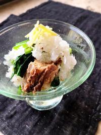 あと一品!うまうま簡単レシピ㉗・・鯖缶と小松菜のおろし和え - Coucou a table!      クク アターブル!