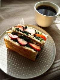 苺とパセリのトーストサンド - Kitchen diary