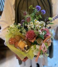 母の日企画fudan cafe コラボflower and sweets set 販売中です。 - 花屋「ニコグサ」やってます。