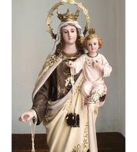 カルメル山の聖母子像 45cm  /H011 - Glicinia 古道具店