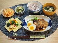 豚の角煮の晩ごはん☆ - 365のうちそとごはん*:..。o○☆゚
