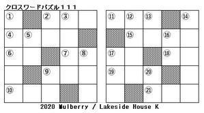 理科(科学) クロスワードパズル111(第1学年) - Lakeside House K