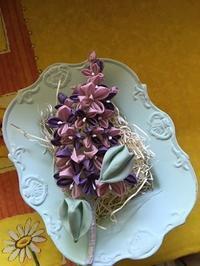 ポチ雪さんのリラの器 - つまみ細工鶫屋(つぐみや)つれづれなるまま日記