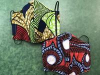 夏用マスクをアフリカンプリントで、 - 青山ぱせり日記
