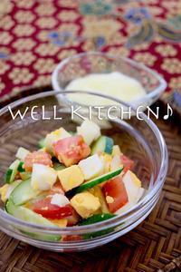 クセさえない ソースかけて ぐんぐん食べる お腹を充してきた 気失わないように 混ぜたらいいね卵サラダ - 家族みんなのニコニコごはん