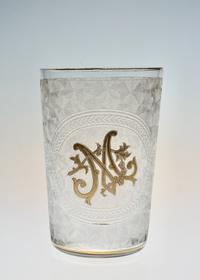 "St-Louis Gold Acid etching Tumbler ""M"" - GALLERY GRACE ギャラリーグレース BLOG"
