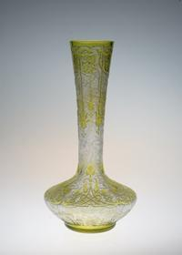 Baccarat Green Acid Etching Japonesque Vase - GALLERY GRACE ギャラリーグレース BLOG