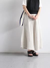 Worker's NobilityCircle skirt / Rustic 100% linen - 『Bumpkins putting on airs』