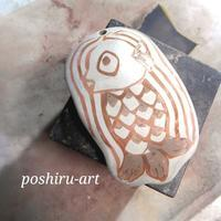 銀粘土でアマビエ様を作りました。 - 銀粘土と樹脂粘土と2匹のねこ