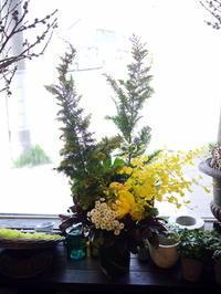 ご葬儀のアレンジメント。上野幌斎場にお届け②。「薔薇も使って可」。2020/05/03。 - 札幌 花屋 meLL flowers