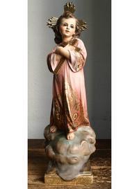 十字架を抱く幼子イエス 45cm  /H049 - Glicinia 古道具店