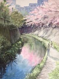 2020年4月の課題 - まり子の水彩画