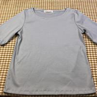4分袖シンプルTシャツ - のらりくらりと