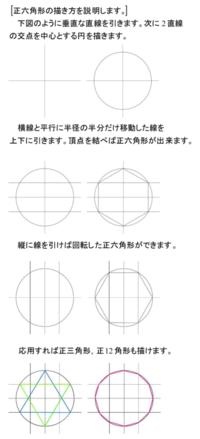 〈130〉正六角形の描き方 - 得点を増やす方法を教えます。困ってる人の手助けします。1p500円より。