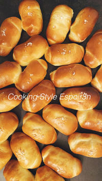 自家製酵母で塩バターロールを作りましょ・レシピご紹介します。 - 自家製天然酵母パン教室料理教室Espoir3nさいたま市大宮