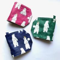 ラミネート★王冠クマちゃん柄の仮置きマスクケース - Flora 大人服とナチュラル雑貨