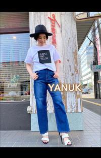 20SS「YANUK ヤヌーク」新作ワイドテーパードデニム「COLLEENコリーン」入荷です。 - UNIQUE SECOND BLOG